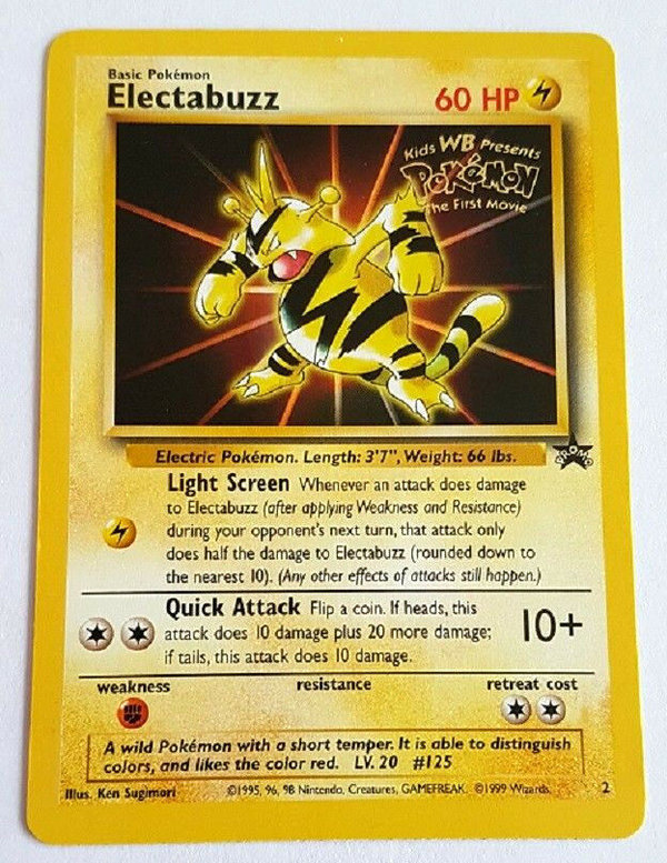Pokemon Promo 2 - Electabuzz (Elektek) - Movie Gold Stamped/ Sealed 1999 EN Mint