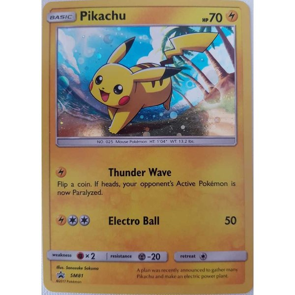 Pikachu SM 81 Promo Holo  Englisch NM/Mint