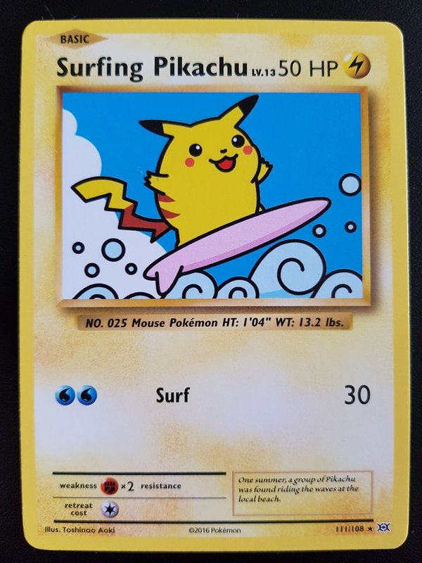 Surfing Pikachu 111/108 Evolution Rare Secret Englisch NM/Mint