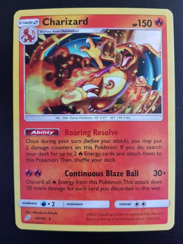 Charizard 14/181 Shattered Holo Englisch NM/Mint