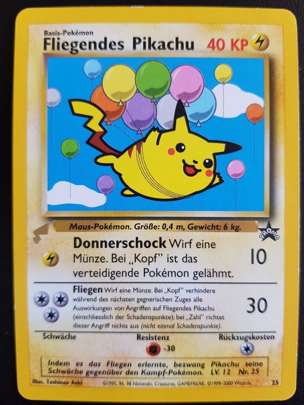 Flying Pikachu 25 - World Collection 2000 - Deutsch NM