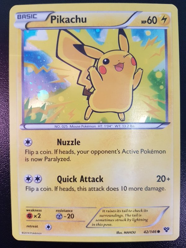 Pikachu - 42/146 - XY Movie Promo (2014) - Holo - Englisch - Mint
