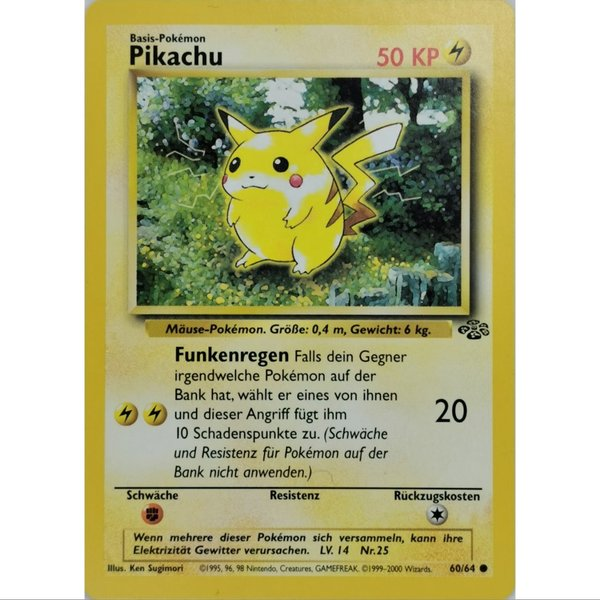 Pikachu 60/64 Edition Dschungel 1999 Deutsch Mint