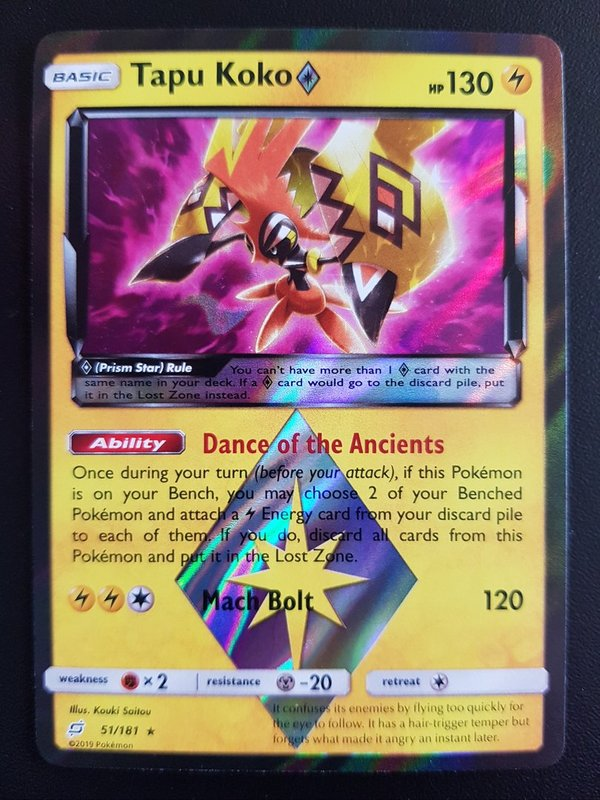 Tapu Koko 51/181 Holo Team UP Englisch NM