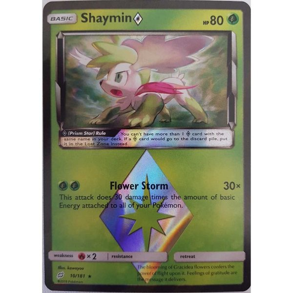 Shaymin Prisma 10/181 Prism Star Holo Team UP Englisch Mint