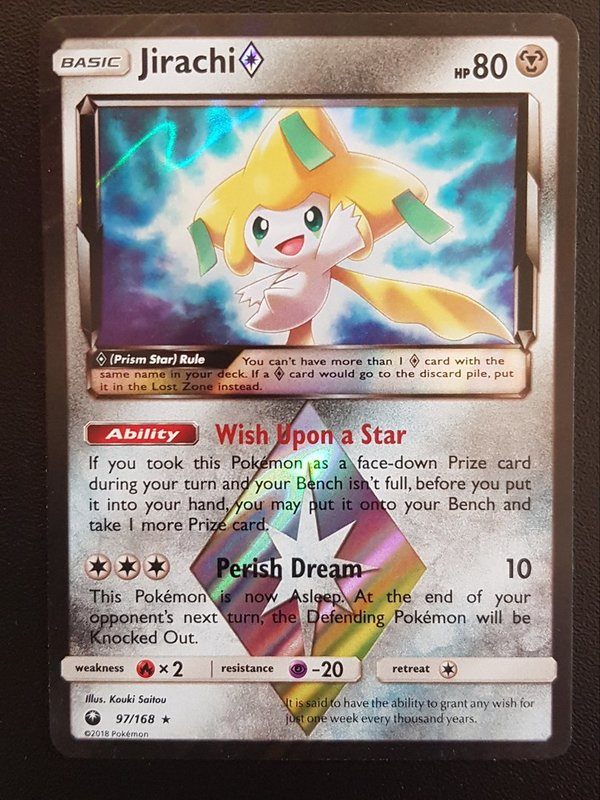 Jirachi 97/168 Prism Star - Celestial Storm - Holo - Englisch NM