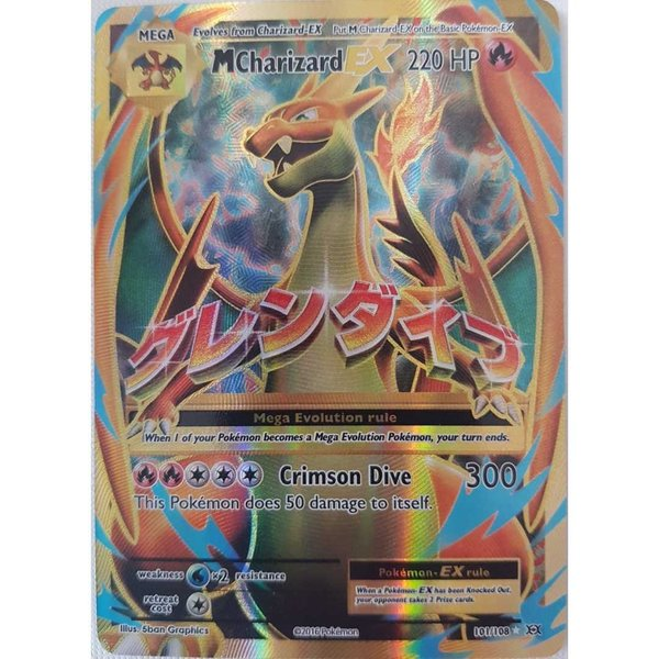 Mega Charizard EX Full Art 101/108 Evolutions Englisch NM/Mint