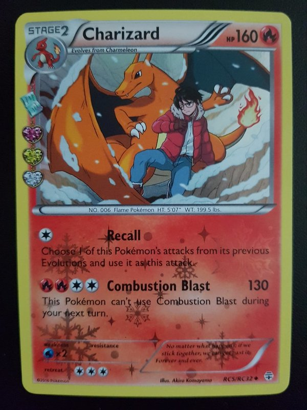 Charizard RC5/RC32 - Generations Radiant Collection - Englisch NM