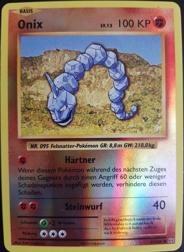Onix 61/108 Reverse Holo Deutsch NM