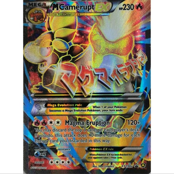 Camerupt EX XY198a - Black Star Promo - NM/Mint - Englisch