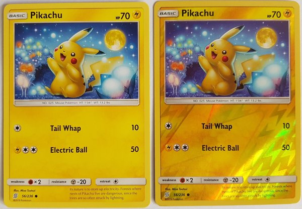 Pikachu 56/236 im 2er Set Common und Reverse Holo - Unified Minds - EN- NM/Mint