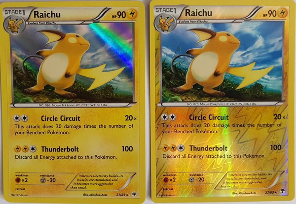 Alolan Raichu 57/236 Holo/ Reverse Holo - 2er Set- Unified Minds - EN NM/Mint
