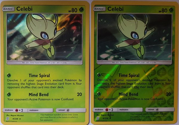 Celebi 4/236 Holo/ Reverse Holo - 2er Set- Unified Minds - EN Mint