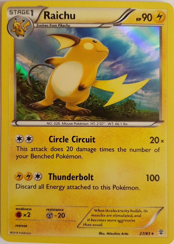 Alolan Raichu 57/236 Holo - Sun and Moon- Unified Minds - EN Mint