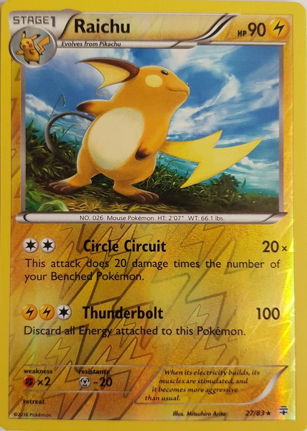 Alolan Raichu 57/236 Reverse Holo - Sun and Moon- Unified Minds - EN Mint