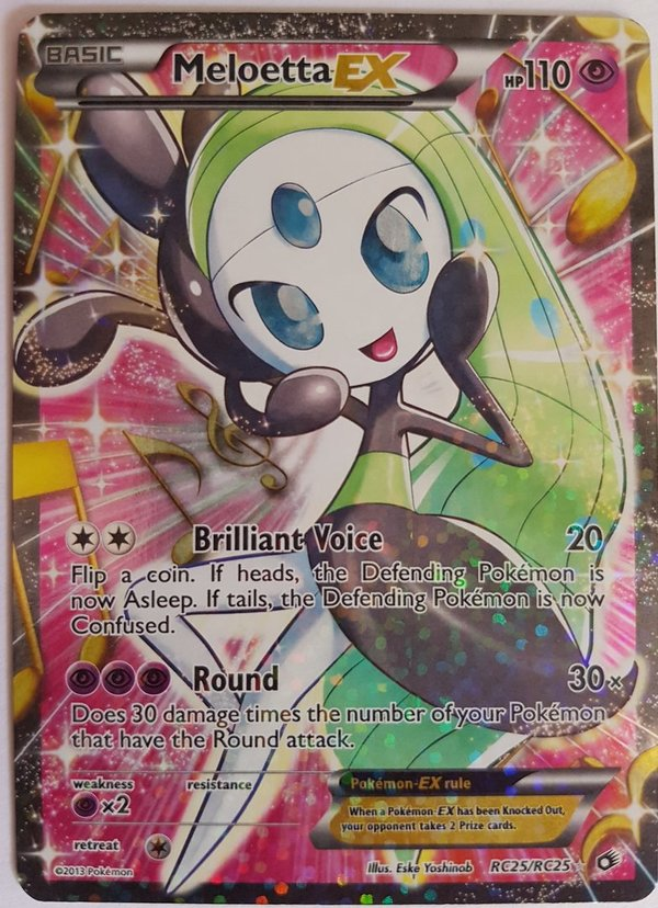 Meloetta EX RC25/RC25 Full Art Ultra Rare - English Mint