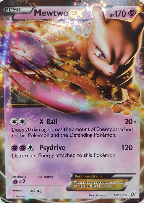 Mewtwo EX 54/113  Legendary Treasures Englisch NM