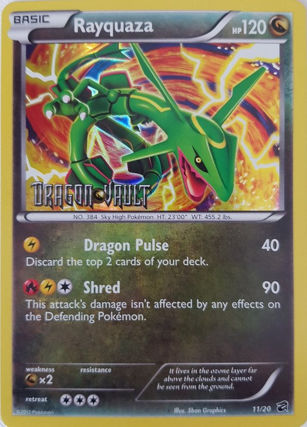 Rayquaza 11/20 Pre Release Promo Holo Stamped Englisch NM/Mint