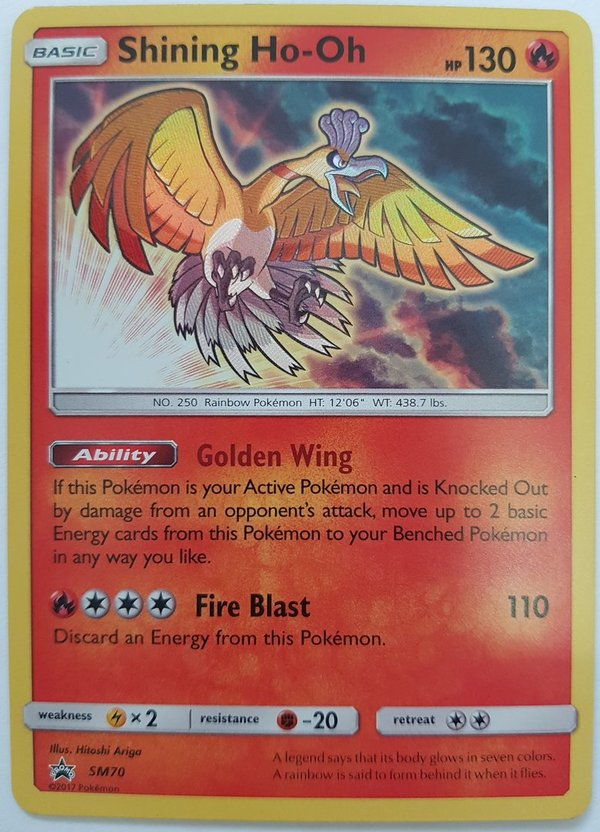 Shining Ho-Oh Promo SM70  - Holo  Pokemon Englisch - NM/Mint