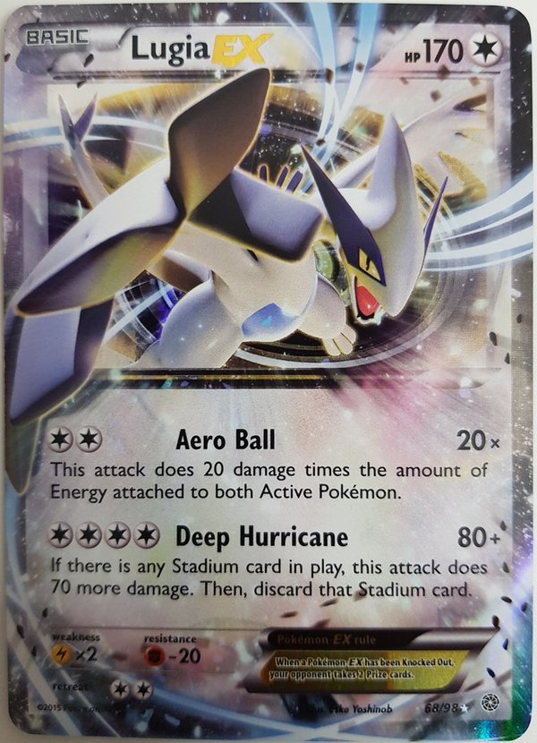 Lugia EX 68/98 Holo Ancient Origin Pokemon -  Englisch NM/Mint