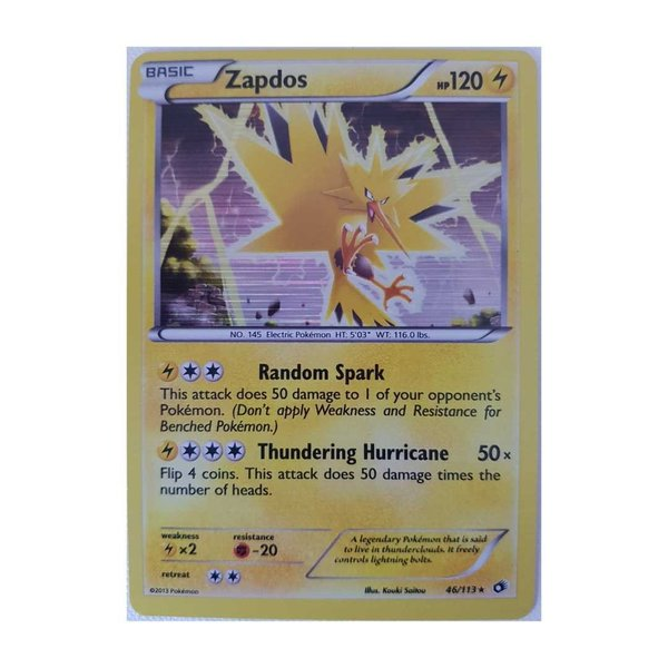 Zapdos 46/113 Holo Rare - Legendary Treasures - Englisch NM