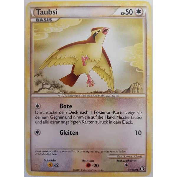 Taubsi 71/102 HGSS Pokemon Deutsch NM