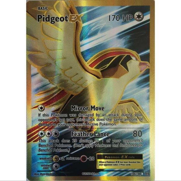 Pidegeot 104/108 EX Full Art Ultra Rare Pokemon Holo Englisch Mint