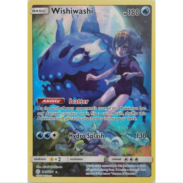 Wishiwashi/Lusardin 240/236 Secret Rare Pokemon S&M Cosmic Eclipse EN NM/Mint