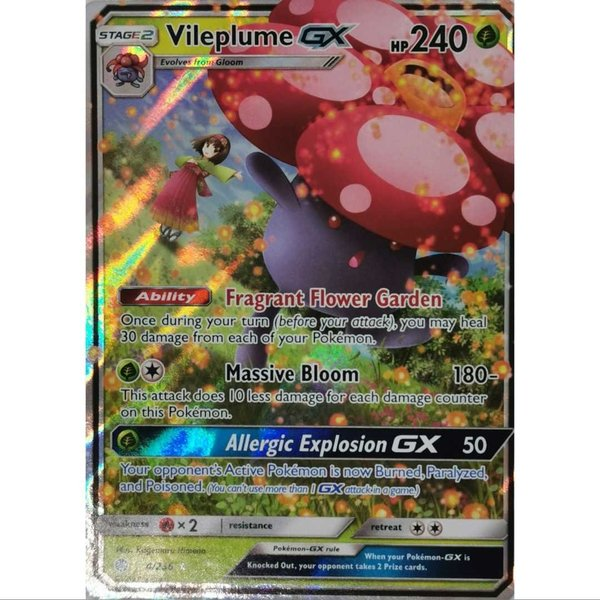 Vileplume GX 211/236 Ultra Rare Pokemon Englisch NM/Mint