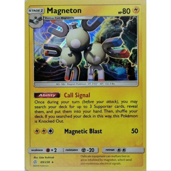 Magneton  69/236 Holo Rare Pokemon Englisch NM/Mint