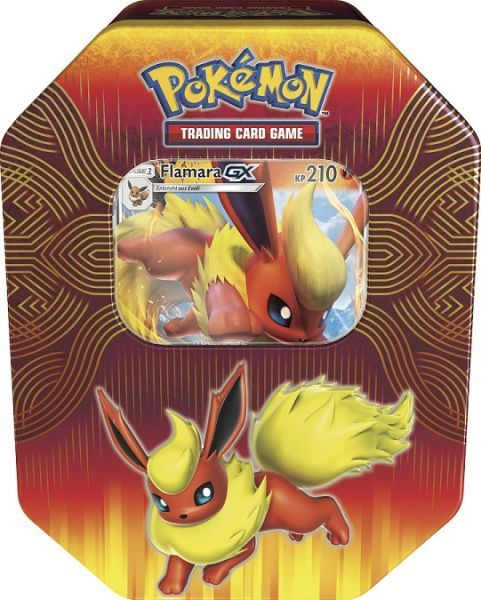 POKÉMON CARDS TIN BOX # 76 Flamara Deutsch