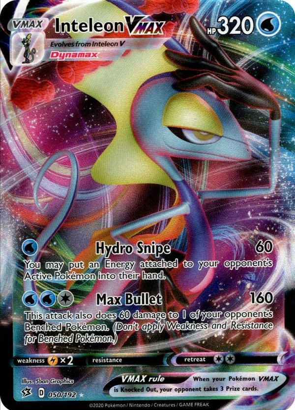 Intelleon VMAX 050/192 Ultra Rare Pokemon SWSH Rebel Clash EN/NM