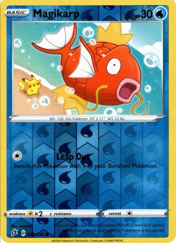 Magikarp 39/192 Revers Holo Pokemon SWSH Rebel Clash EN/NM