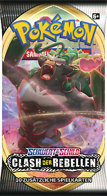 SWSH02 Schwert & Schild Clash der Rebellen Sealed Booster Pack Pokemon Deutsch