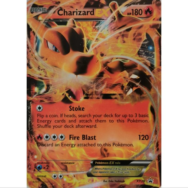 Charizard EX XY29 Black Star Promo Pokemon Englisch NM/Mint