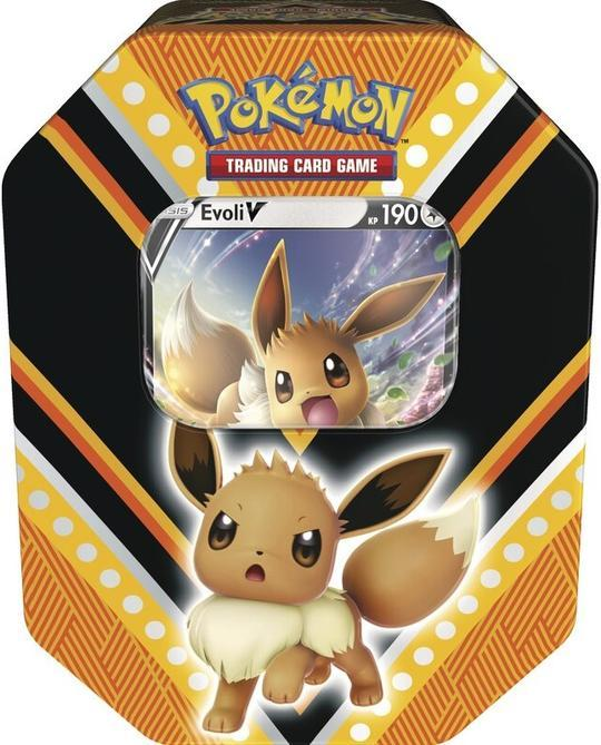 POKÉMON CARDS TIN BOX # 89 Evoli V  Deutsch
