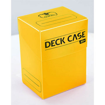 Ulimate Guard - Deck Case 80+ Standard Size Yellow