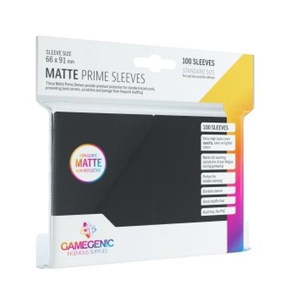 Gamegenic - Matte Prime Sleeves Black (100 Sleeves)