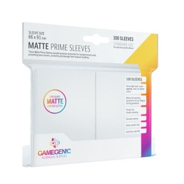 Gamegenic - Matte Prime Sleeves White (100 Sleeves)