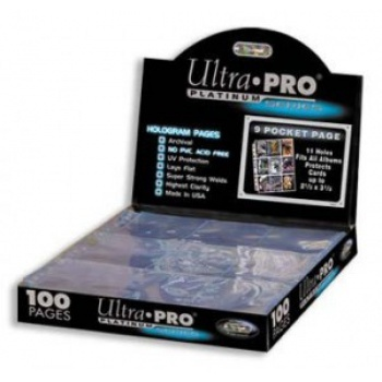 Ultra Pro - Platinum 9-Pocket Pages (11Hole) Display 100 Stück