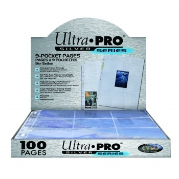 Ultra Pro - Silver 9-Pocket Pages (11Hole) Display 100 Stück