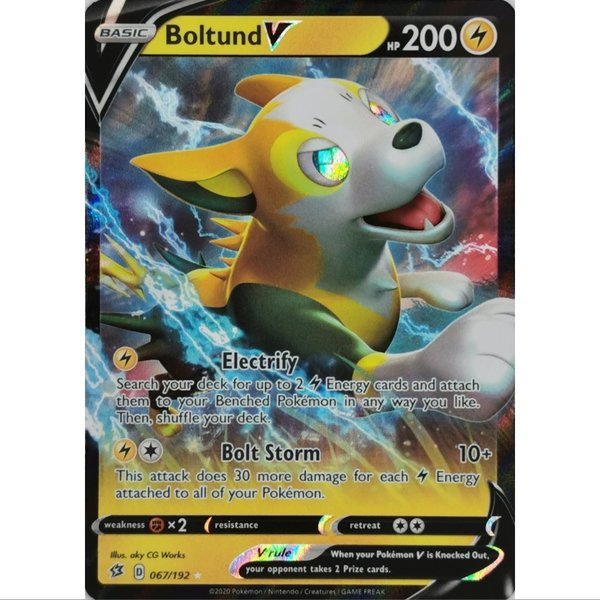 Boltund V 067/192 Ultra Rare Pokemon SWSH Rebel Clash EN/NM