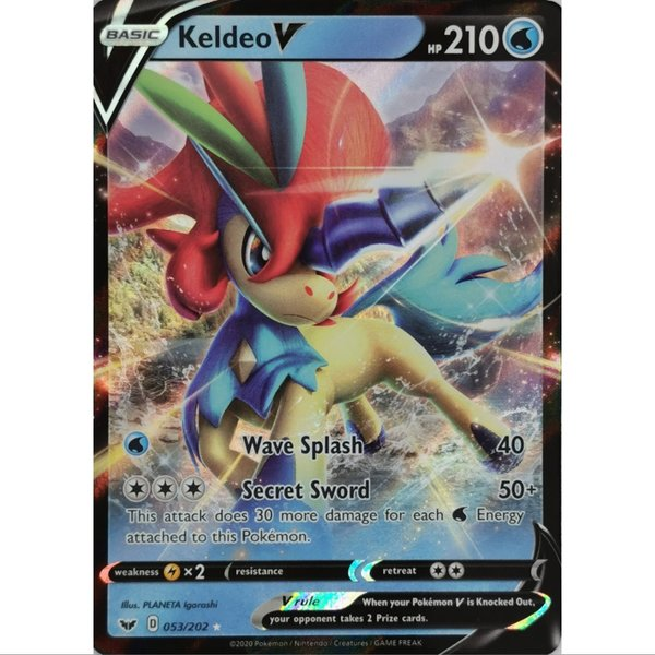 Keldeo V 053/202 Ultra Rare Pokemon SWSH Base EN/NM