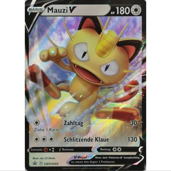 Mauzi V SWSH004 Black Star Promo Pokemon Deutsch NM/Mint