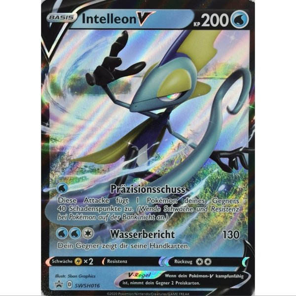 Intelleon V SWSH016 Black Star Promo Pokemon Deutsch NM/Mint