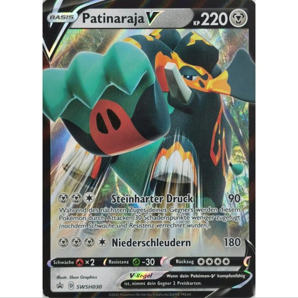 Patinaraja V SWSH030 Black Star Promo Pokemon Deutsch NM/Mint