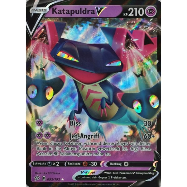 Katapuldra V 92/192  Ultra Rare Pokemon SWSH Rebel Clash DE/NM
