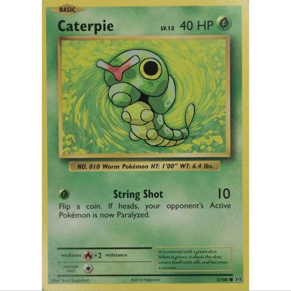 Caterpie 3/108 Common XY  Evolution Englisch NM/Mint