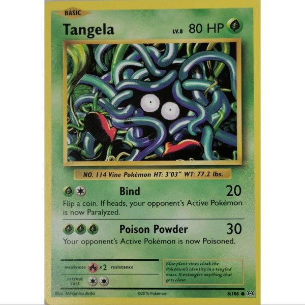 Tangela 8/108 Common XY  Evolution Englisch NM/Mint