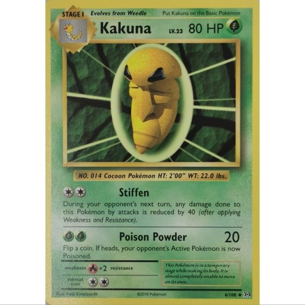 Kakuna 6/108 Common XY  Evolution Englisch NM/Mint